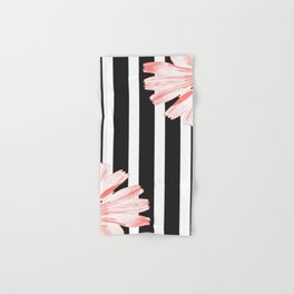 Cichoriums on stripes Hand & Bath Towel
