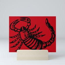 scorpio sign Mini Art Print