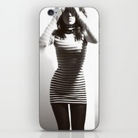 striped iPhone & iPod Skins featuring Striped by serapart