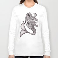 mermaid Long Sleeve T-shirts featuring Mermaid by Laura Maxwell