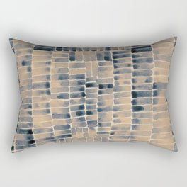 Watercolor abstract rectangles - neutral Rectangular Pillow