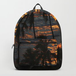 Waikiki Beach Sunset Hawaii Backpack