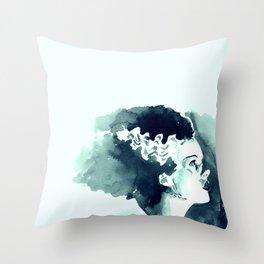 The Bride (profile) Throw Pillow