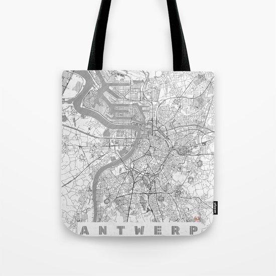 Antwerp Map Line Tote Bag