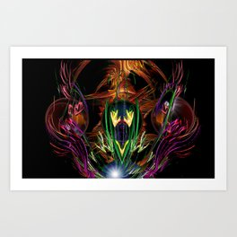 Art Deco Birds of Paradise Art Print