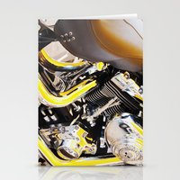motorcycle Stationery Cards featuring Motorcycle by Carlo Toffolo