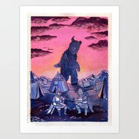 Beast of the Highlands Art Print
