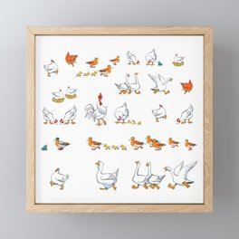 Сheerful   farm Framed Mini Art Print