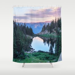 Hikers Bliss Perfect Scenic Nature View \ Mountain Lake Sunset Beautiful Backpacking Landscape Photo Shower Curtain