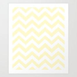 Lemon chiffon - pink color - Zigzag Chevron Pattern Art Print