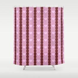 Pink Locket Shower Curtain