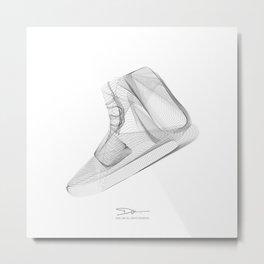 YEEZYS 750 Boost Sneakers Art Metal Print