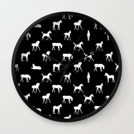 Foals All Over Pattern White Wall Clock