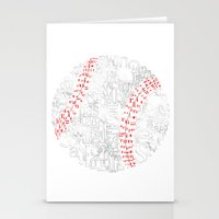 baseball Stationery Cards featuring Baseball by Vicki Golden