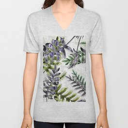 Vintage Ferns Unisex V-Neck
