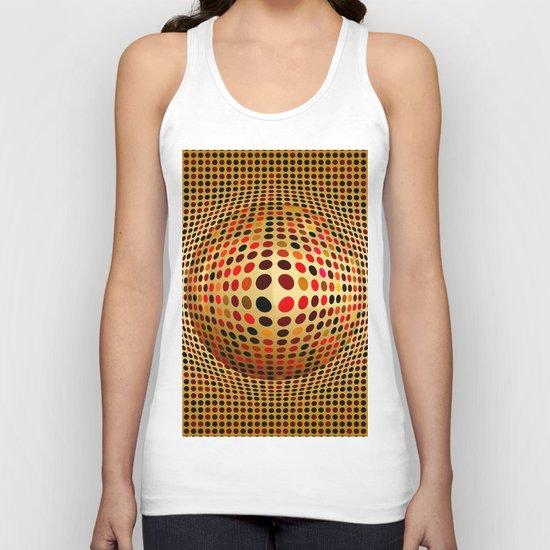Ball illusion art Unisex Tank Top