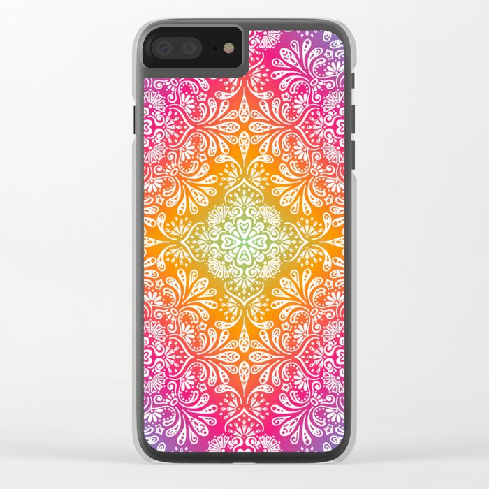 Spring Mandala Clear iPhone Case