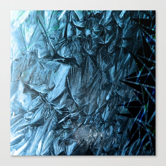 Geometric Frost Canvas Print