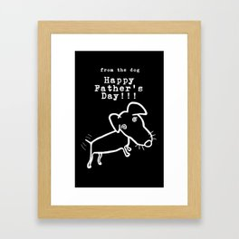 Happy Father's Day from Doodle Dog Framed Art Print