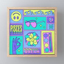Pisces Framed Mini Art Print