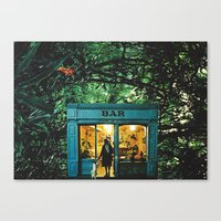 bar Canvas Prints featuring Bar by flirst