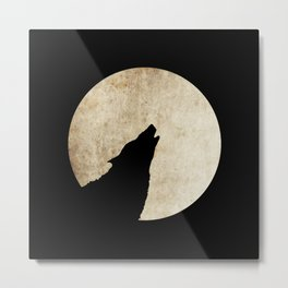Wolf night 2 Metal Print