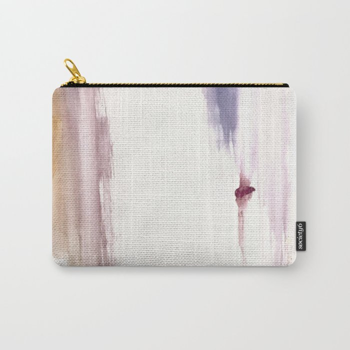 Sugar and Spice [2]: a minimal, pretty abstract piece in pinks, purple, mauve, and tan Carry-All Pouch
