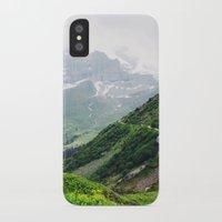 switzerland iPhone & iPod Cases featuring Switzerland by Tana Helene