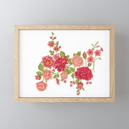 Beautiful red and pink flowers Framed Mini Art Print