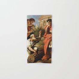 Sebastiano Ricci - Tarquin the Elder Consulting Attius Navius Hand & Bath Towel