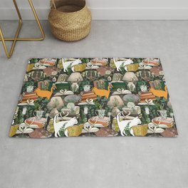 Cozy Cat Cafe and Bookstore Rug