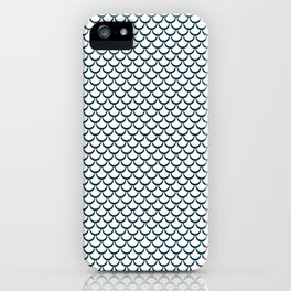 Abstract fish scale iPhone Case