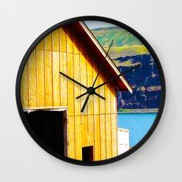 Wine Barn Riverside Wall Clock