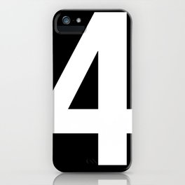 Lucky number: 4 iPhone Case