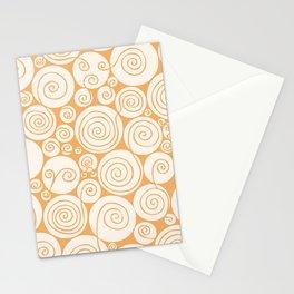 Still Waiting For Spring Bright Orange Pattern Stationery Cards