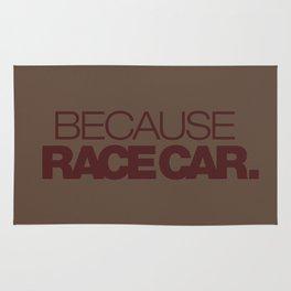 BECAUSE RACE CAR v7 HQvector Rug
