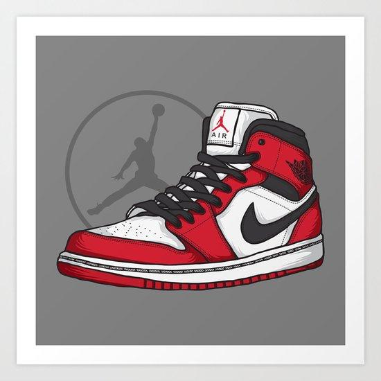 Jordan 1 OG (Chicago) Art Print