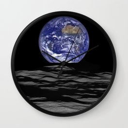 Earth from the moon Wall Clock