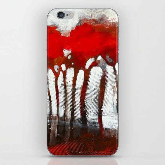 Red trees iPhone Skin