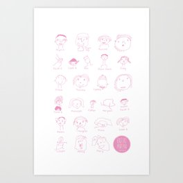 Faces of Rafiki Art Print