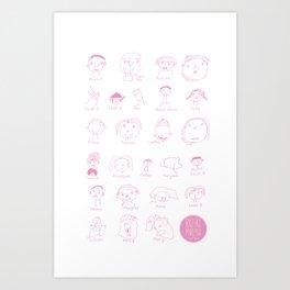 Faces of Rafiki Art Print
