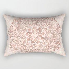 Mandala Seashell Rose Gold Coral Pink Rectangular Pillow