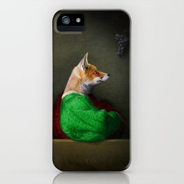Portrait of the Fox and the Grapes iPhone Case