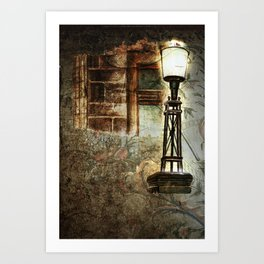 Victorian Pillar Lantern & Window Surround Art Print