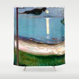Edvard Munch - Moonlight Shower Curtain