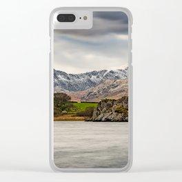 Snowdon Horseshoe Winter Clear iPhone Case