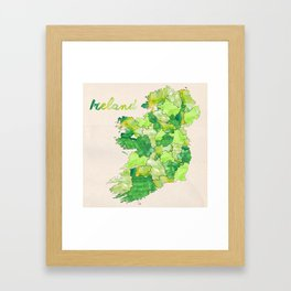 Watercolor Countries - Ireland Framed Art Print