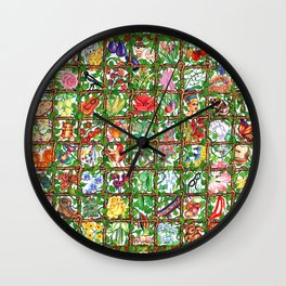 Vine O' Plenty Wall Clock