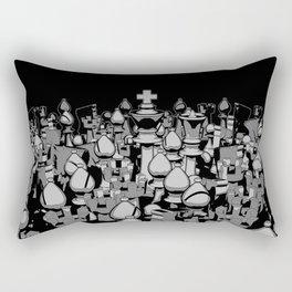 The Chess Crowd Rectangular Pillow