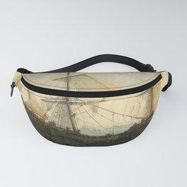 Vintage Pacific Ocean Coastal Sail Fanny Pack